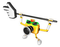 That Yellow Camera holding a large cursor indicate a direction. Royalty Free Stock Images
