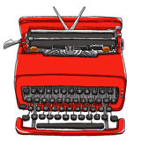 red Typewriter  Royalty Free Stock Image