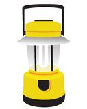 Yellow camping lantern Stock Image
