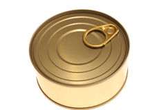 Yellow can. Image of a metal conserving can Royalty Free Stock Photography