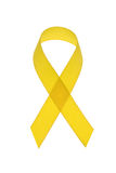 Yellow cancer awareness ribbon Stock Photo
