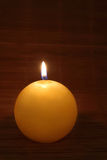 Yellow candle Stock Photos