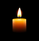 Yellow candle. Vector illustration of yellow candle on black background Royalty Free Stock Images