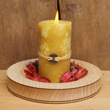 Yellow candle Stock Photography