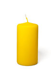 Yellow candle Royalty Free Stock Photos