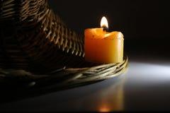 Yellow candle Stock Photos