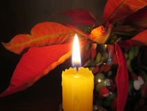 Yellow Candle. Stock Images