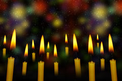 Yellow Candle Royalty Free Stock Images