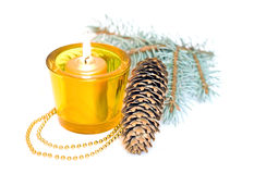 Yellow candles Royalty Free Stock Image
