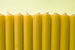 Yellow  candles Stock Photo