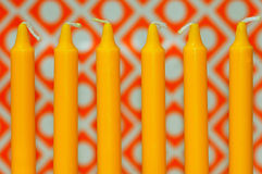 Yellow Candles Stock Photography