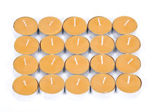 20 yellow candles Royalty Free Stock Image