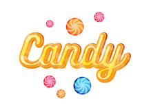 Yellow Candy Font Heading Vector for Posters Stock Photos