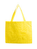 Yellow canvas shopping bag. Stock Photography