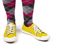 Yellow Canvas Sneakers Stock Image