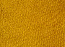Yellow canvas textile Stock Photos