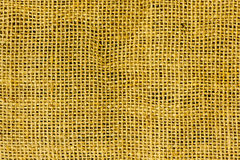 Yellow canvas texture Royalty Free Stock Images