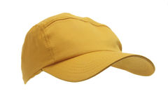 Yellow Cap. On Isolated White Background Stock Image