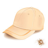 Yellow cap. Realistic yellow cap on white background Royalty Free Stock Image