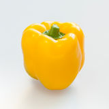 Yellow capsicum or sweet pepper. On white background Stock Images
