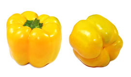 Yellow capsicum. On white background stock image