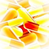 Yellow capsule background Stock Image