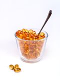 Yellow capsules Royalty Free Stock Images
