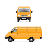 Yellow car. Furgon  illustration template over white background Royalty Free Stock Photos
