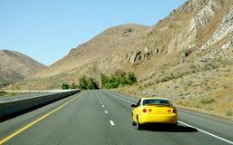 Yellow car Royalty Free Stock Photos
