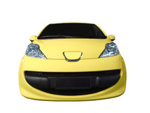 Yellow car Stock Image