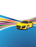 Yellow car stock illustration