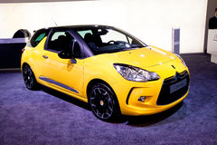 Yellow car Citroen DS3 Royalty Free Stock Images