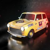 Yellow car. 3d render of a yellow car Royalty Free Stock Photo