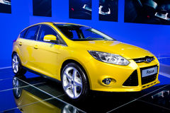 Yellow car Ford Focus Royalty Free Stock Images