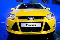 Yellow car Ford Focus Royalty Free Stock Photos