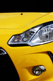 Yellow Car headlight Royalty Free Stock Image