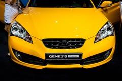 Yellow car Hyundai  Genesis Coupe Royalty Free Stock Images
