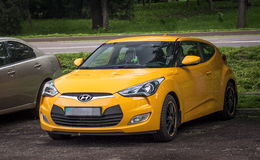 Yellow car Hyundai. Stock Images
