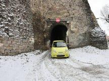 Yellow car Royalty Free Stock Image