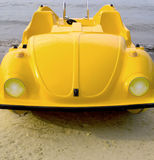 Yellow car pedalo Stock Image