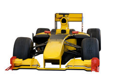 Yellow car. Yellow racing car from Formula one Royalty Free Stock Photos