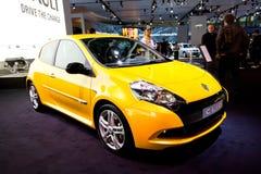 Yellow car Renault Clio Stock Image