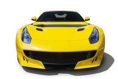 Yellow car with shiny color Royalty Free Stock Photography