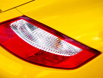 Yellow Car Tail Light Royalty Free Stock Image