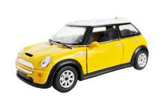 Yellow car Stock Images