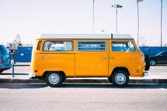 Yellow, Car, Van, Vehicle, Travel Royalty Free Stock Photography