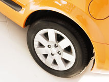 Yellow car wheel Royalty Free Stock Photo