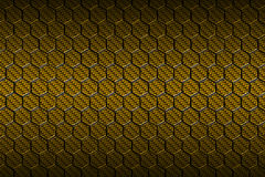 Yellow carbon fiber hexagon pattern. Background and texture. 3d illustration Stock Photo