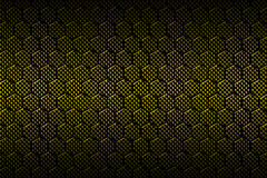 Yellow carbon fiber hexagon pattern. Background and texture. 3d illustration Royalty Free Stock Photo