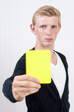Yellow card Royalty Free Stock Images